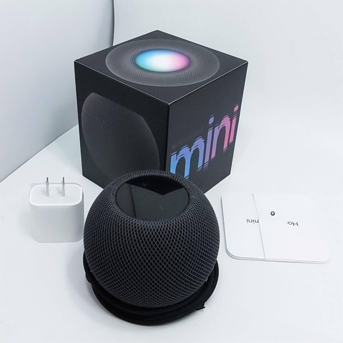 [Siri連携動作確認済み] アップル Apple ホームポッドミニ HomePod mini MY5G2J/A スペースグレイ_画像1