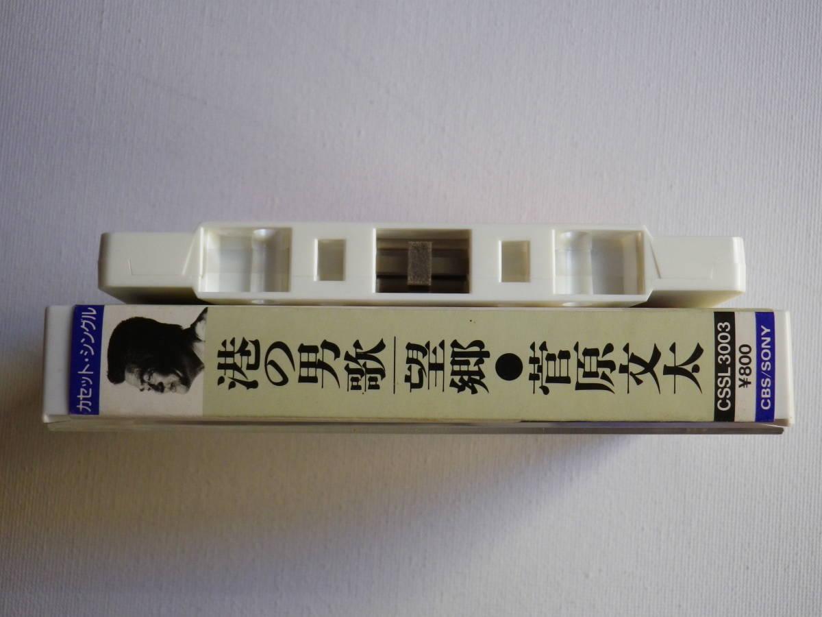 シングルカセット 菅原文太「港の男歌」「望郷」歌&カラオケ 歌詞カード付 中古カセットテープ多数出品中!_画像4