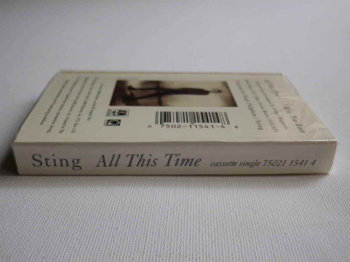 未開封 シングルカセット洋楽輸入盤 スティング STING「All This Time」Single輸入版 カセットテープ 未使用品_画像4