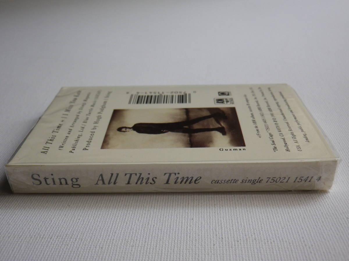 未開封 シングルカセット洋楽輸入盤 スティング STING「All This Time」Single輸入版 カセットテープ 未使用品_画像5