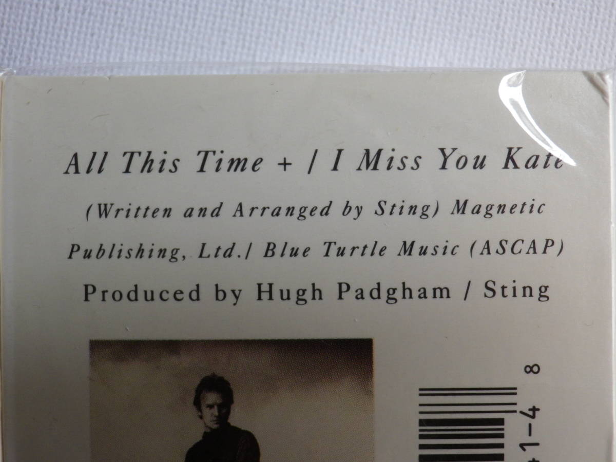 未開封 シングルカセット洋楽輸入盤 スティング STING「All This Time」Single輸入版 カセットテープ 未使用品_画像8