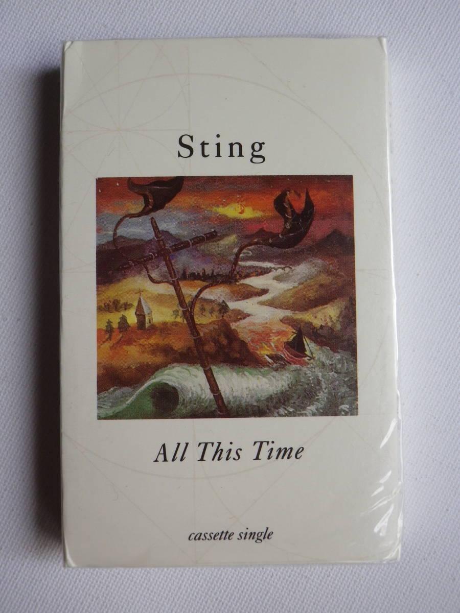 未開封 シングルカセット洋楽輸入盤 スティング STING「All This Time」Single輸入版 カセットテープ 未使用品_画像2