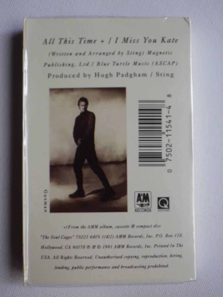 未開封 シングルカセット洋楽輸入盤 スティング STING「All This Time」Single輸入版 カセットテープ 未使用品_画像3
