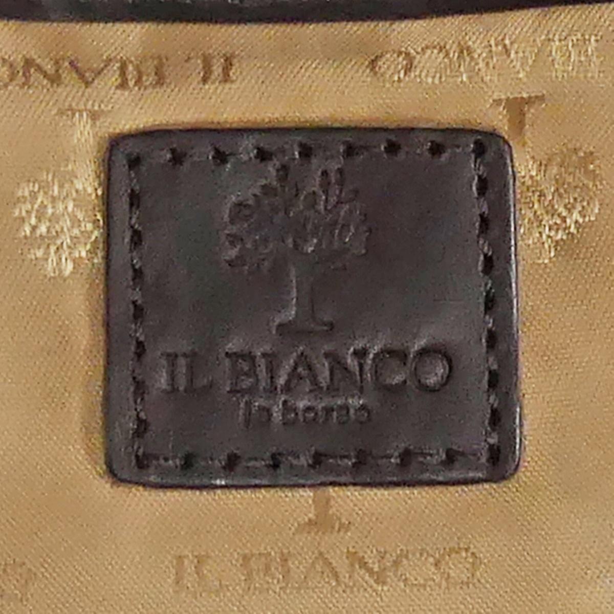 即決★IL BIANCO★レザーハンドバッグ イルビアンコ メンズ 茶 焦茶 本革 トートバッグ 本皮 かばん 鞄 レディース 手提げバッグ_画像9