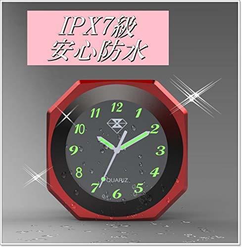新品シルバー(銀) IPX7級防水 バイク オートバイ 自転車 用 アナログ 時計 夜光 日本語 説明書 付き1YS5_画像3