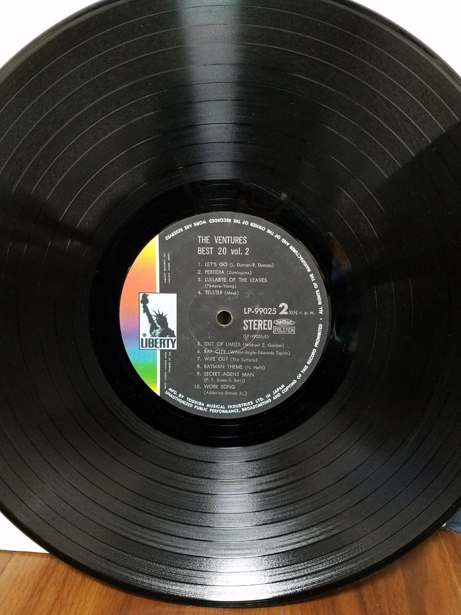 LPレコード  ベンチャーズ  ・ ベスト20