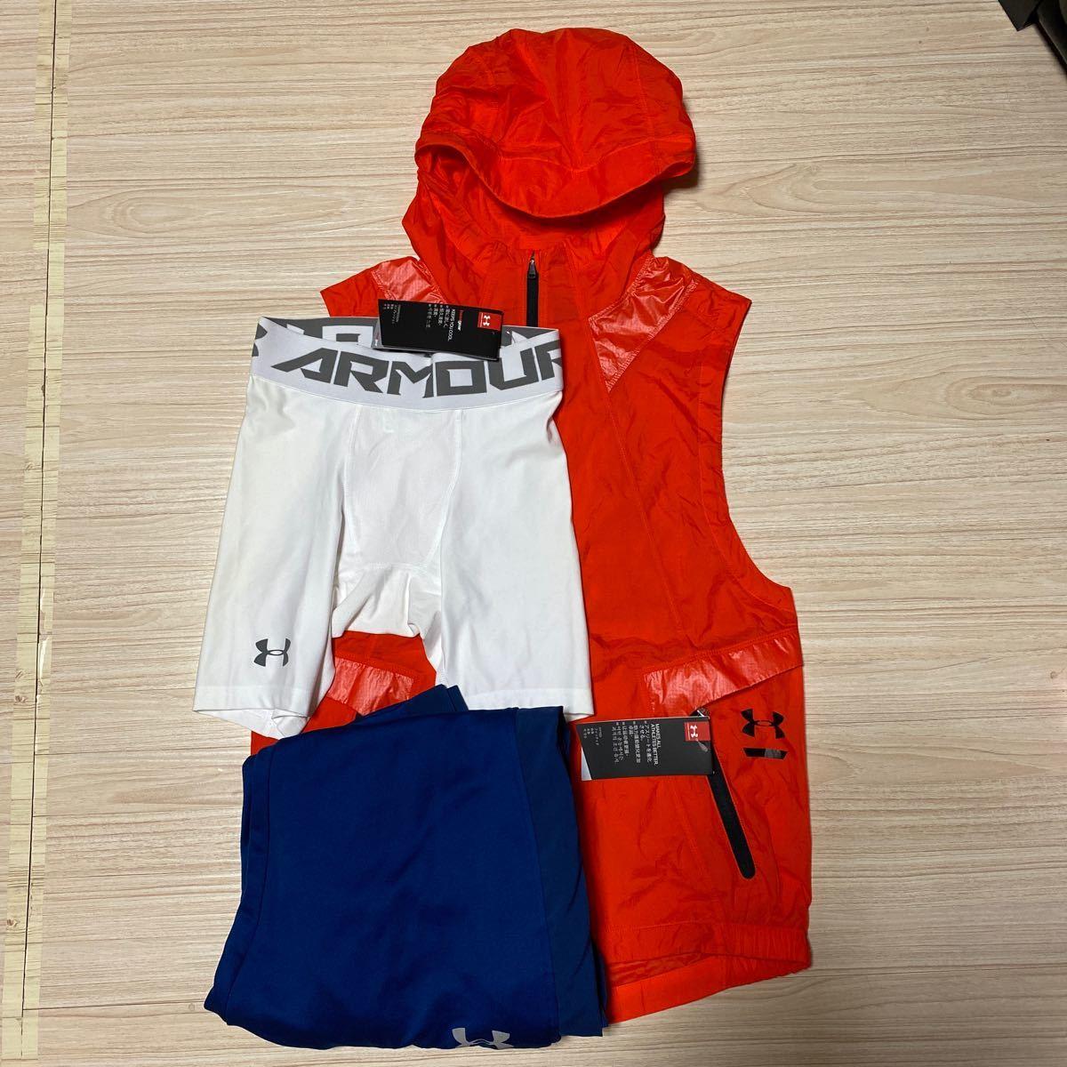 アンダーアーマー コンプレッションシャツ、他 4枚セット(おまけ付き)