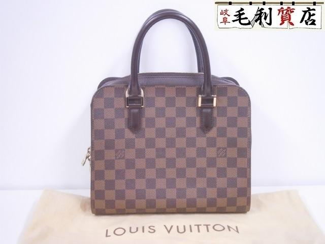送料無料!美品!格安!ルイヴィトン LOUIS VUITTON ダミエ トリアナ N51155 ハンドバッグ バッグ 定番 人気