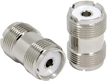 シルバー [5個入] M型メス-M型メス MJMJ 中継コネクタ 両端M型 5個セット eBayson 同軸ケーブル延長 接続用_画像3
