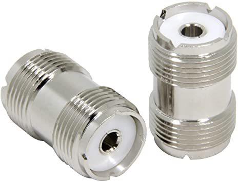 シルバー [5個入] M型メス-M型メス MJMJ 中継コネクタ 両端M型 5個セット eBayson 同軸ケーブル延長 接続用_画像2