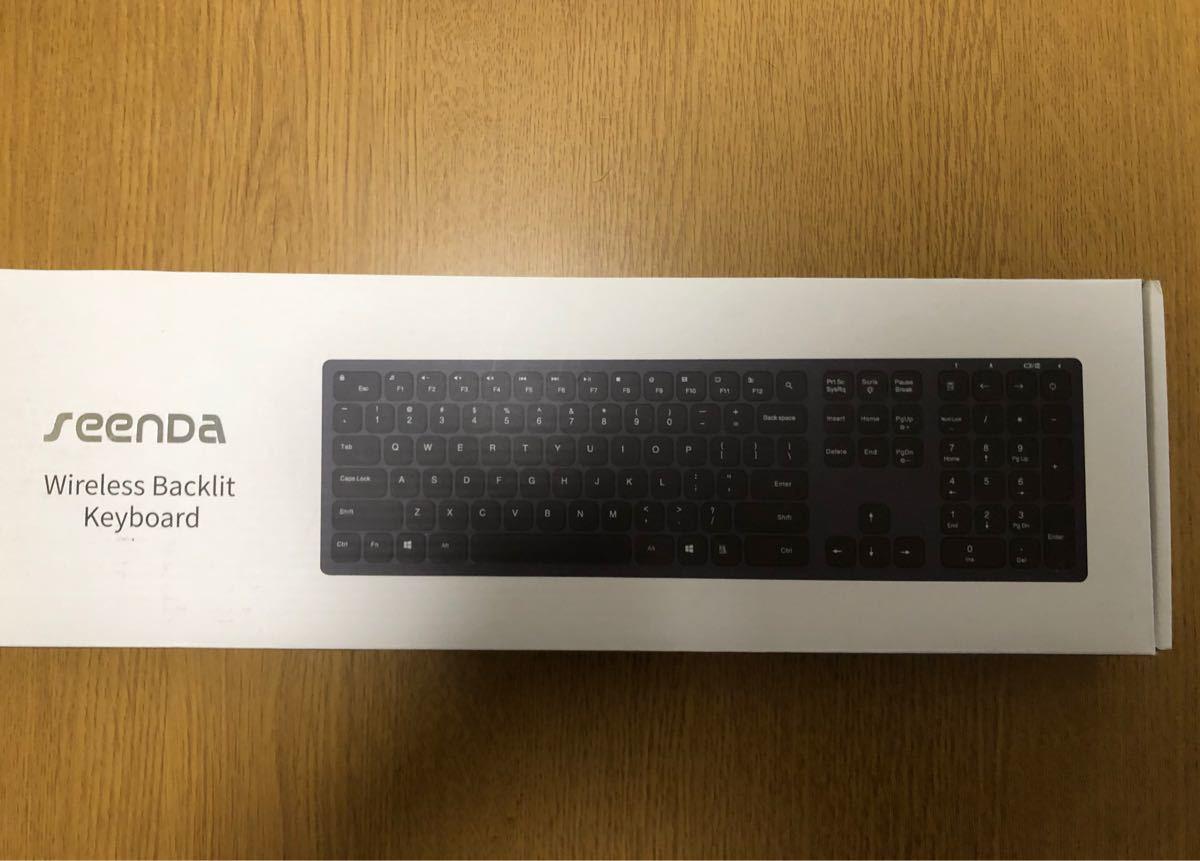 (出品期間4/28まで)SEENDA ワイヤレスキーボード 無線 2.4GHz 静音 軽量 超薄 スリム