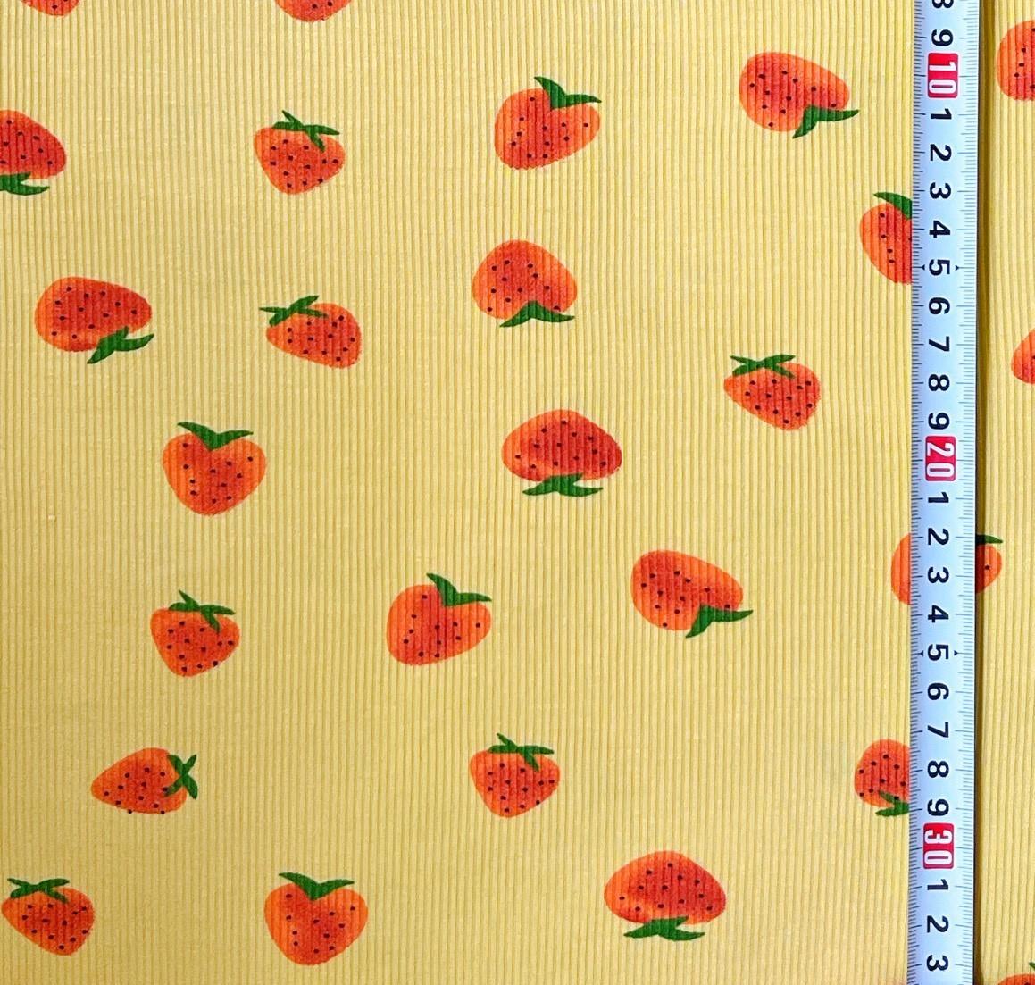 ストロベリー スパンニット  生地 ニット生地 ハンドメイド Tシャツ ハギレ 犬服 はぎれ いちご イチゴ