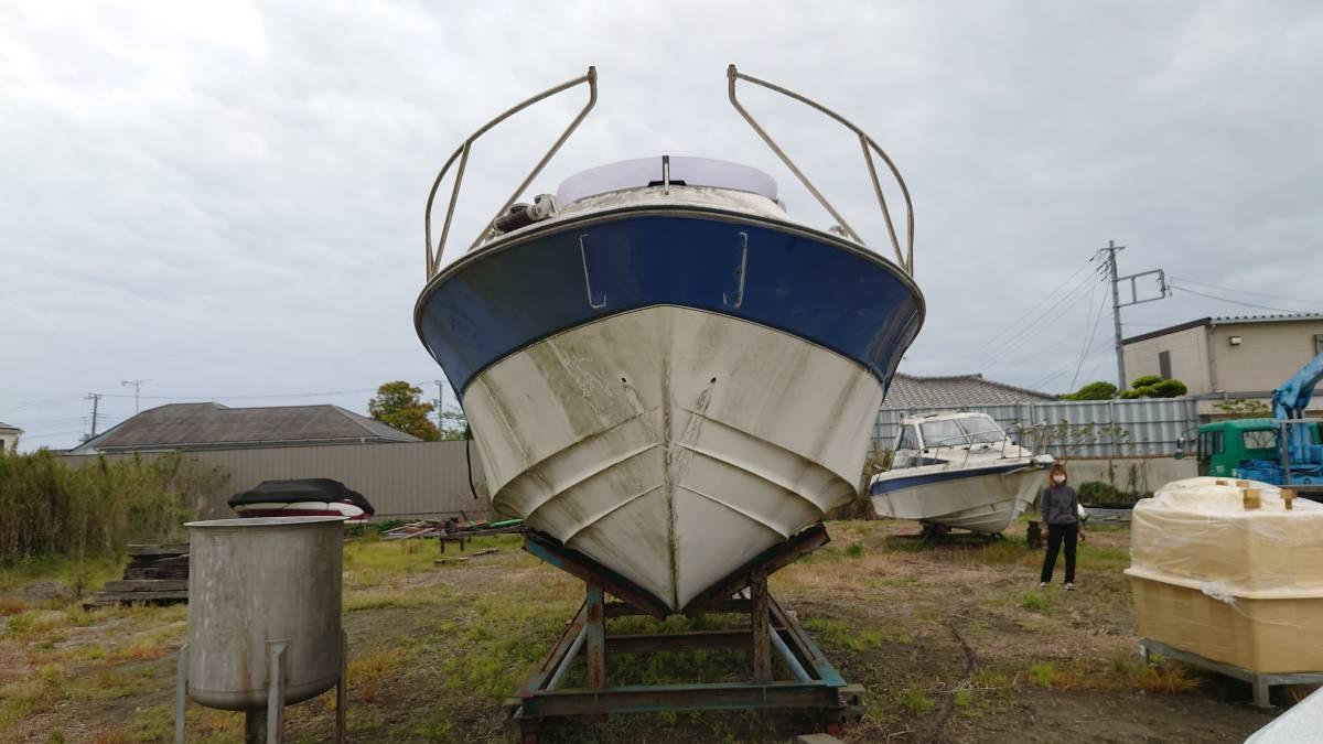 「1円スタート 売り切り 動作未確認 船体 ボート 船内機  再出品」の画像2