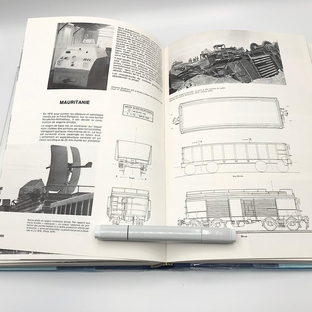 ★希少品★ 洋書 世界の装甲列車 1826-1989年 写真集 スケール図面 フランス_画像7