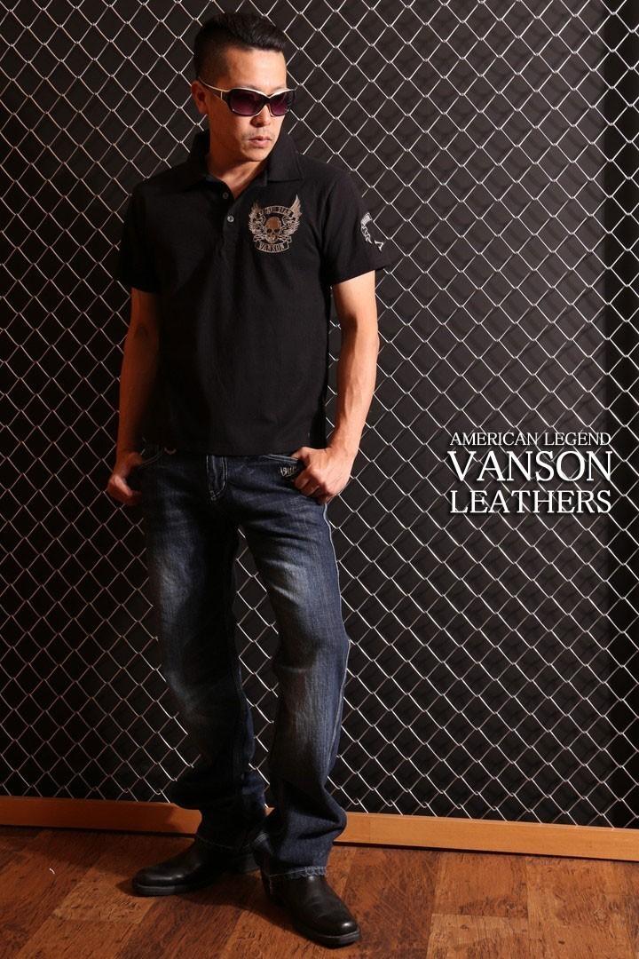 VANSON バンソン【30インチ】デニム SP-B-14 スカル ウィング ジーンズ デニム メンズ ボトムス ハーレー アメカジ_画像10