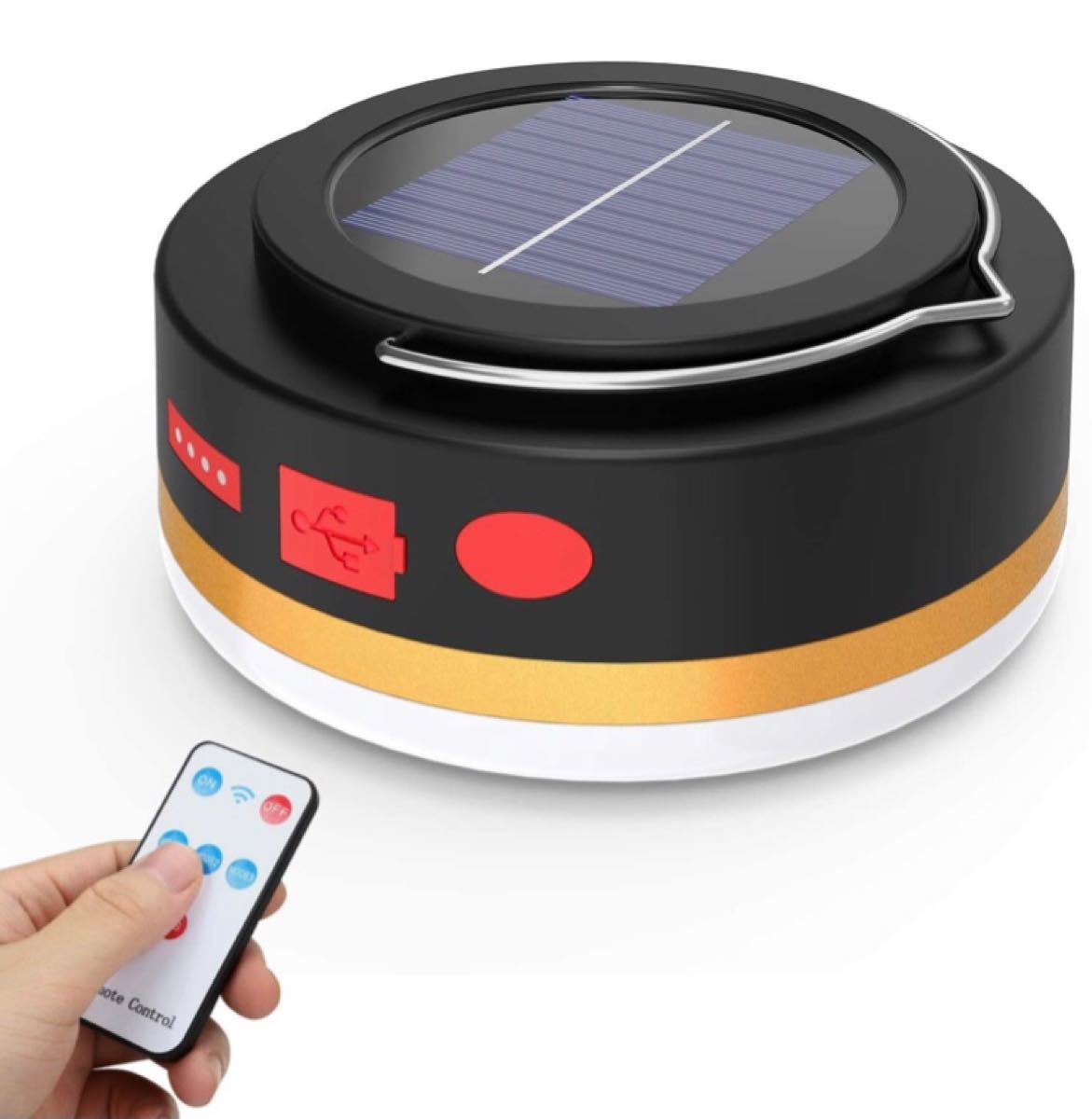 LEDランタン 高輝度 キャンプランタン 5つ点灯モード usb充電式 ソーラー充電 テントライト 4400aMh大容量防災ライト