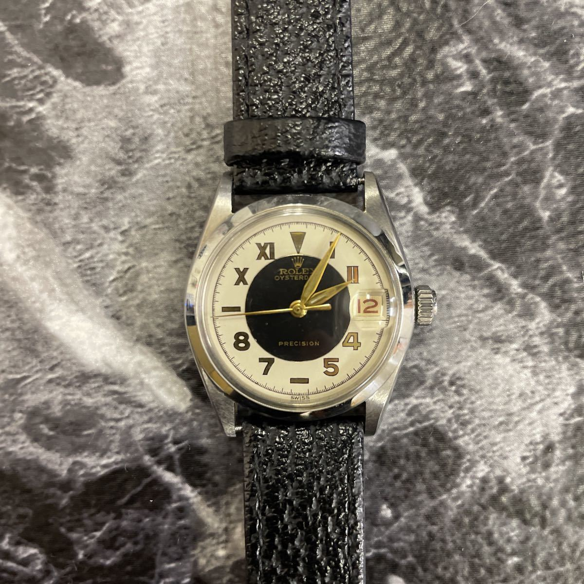 希少文字盤・稼働品・ROLEX ロレックス オイスターデイト プレシジョン 腕時計 ボーイズ メンズ 6466 17石 アンティーク 手巻き式//3260_画像1