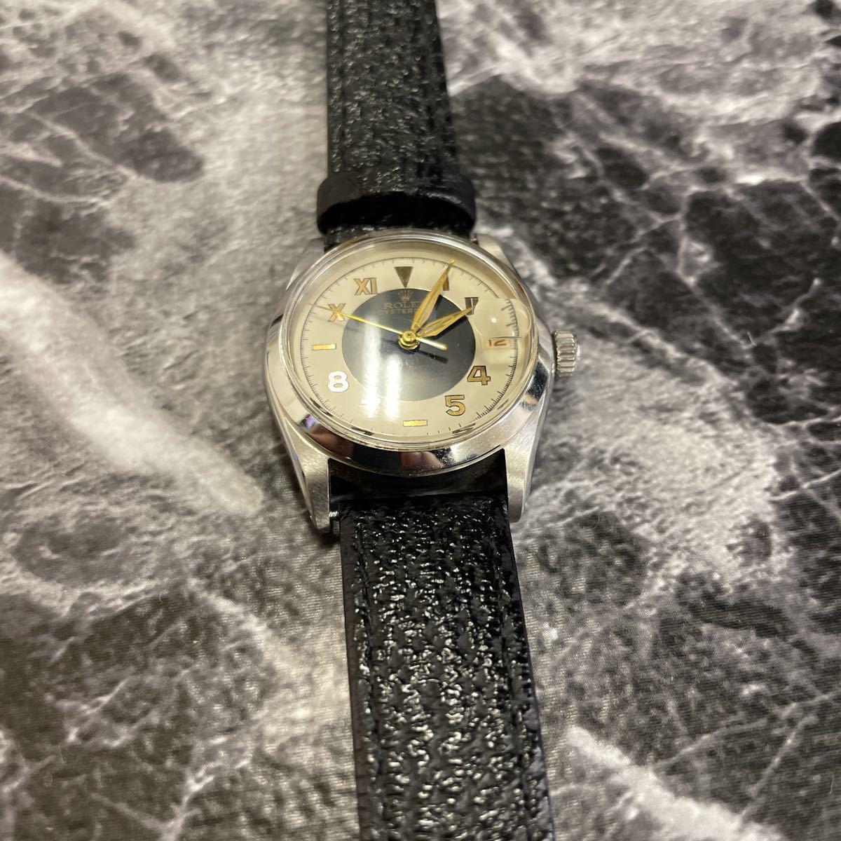 希少文字盤・稼働品・ROLEX ロレックス オイスターデイト プレシジョン 腕時計 ボーイズ メンズ 6466 17石 アンティーク 手巻き式//3260_画像3