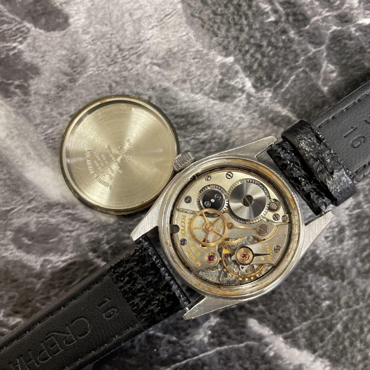 希少文字盤・稼働品・ROLEX ロレックス オイスターデイト プレシジョン 腕時計 ボーイズ メンズ 6466 17石 アンティーク 手巻き式//3260_画像7
