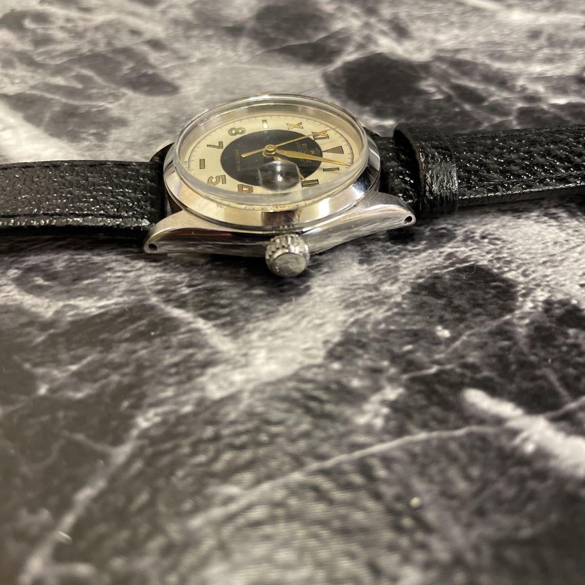 希少文字盤・稼働品・ROLEX ロレックス オイスターデイト プレシジョン 腕時計 ボーイズ メンズ 6466 17石 アンティーク 手巻き式//3260_画像5