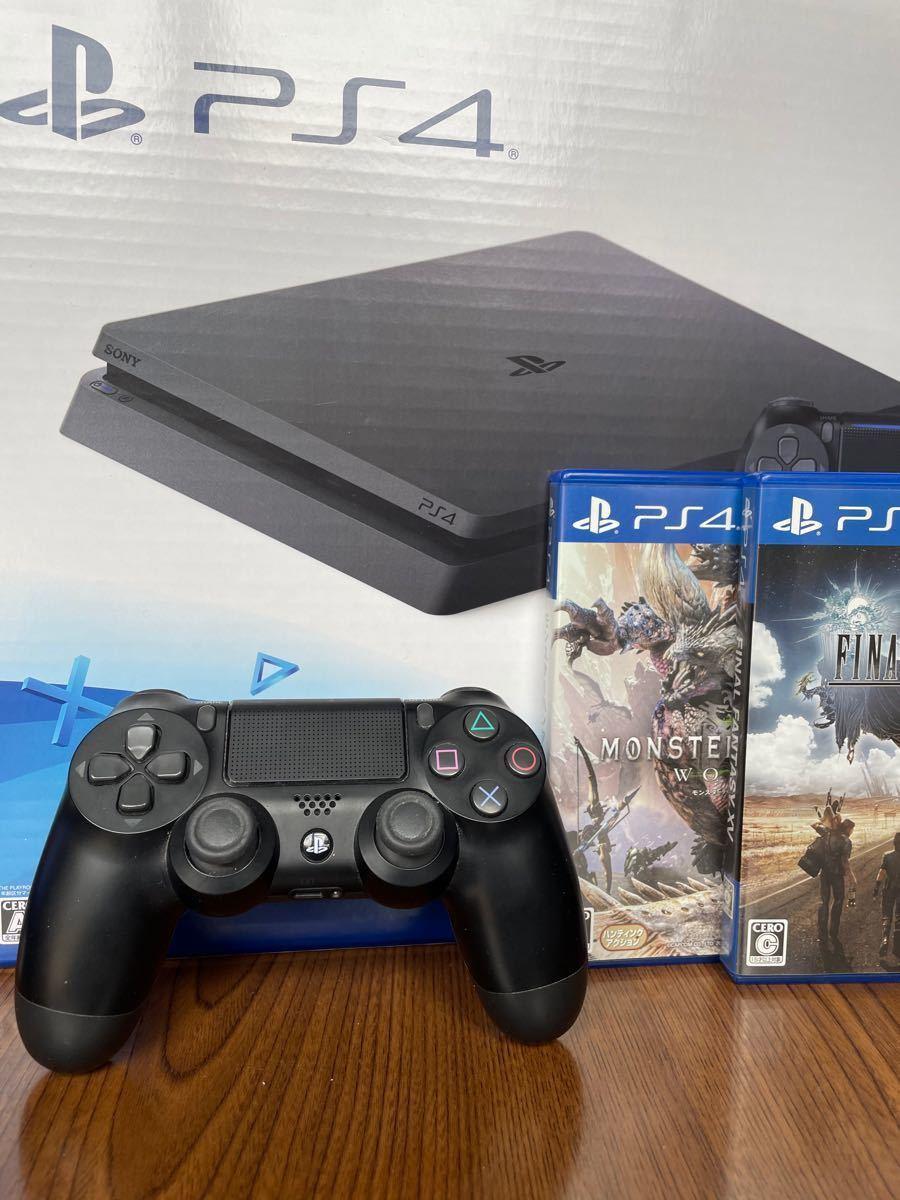 PS4本体 ジェットブラック プレイステーション4本体 ソフト付 おまけ付 黒 プレステ4