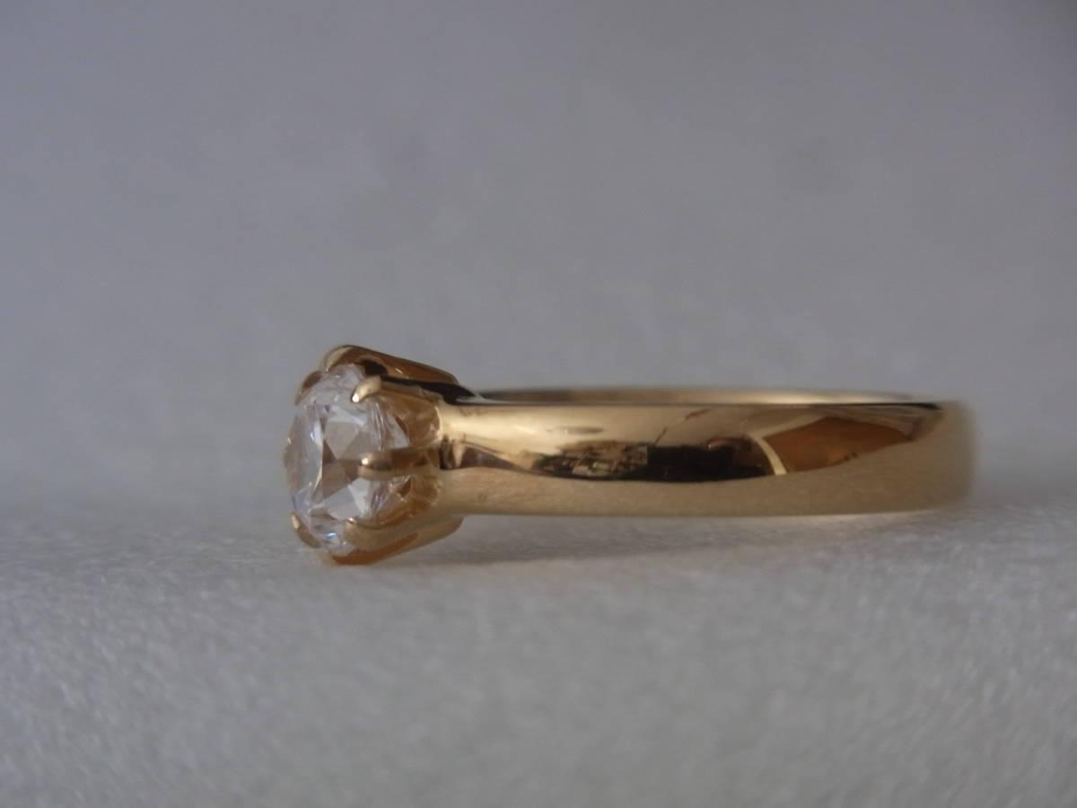 輝きはダイヤモンド級 キュービックジルコニア・リング シルバー・K18GF 指輪 サイズ17+ _画像7