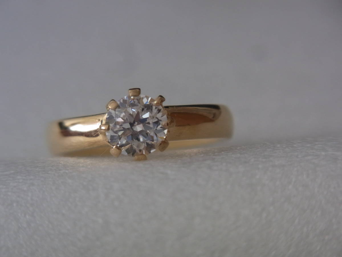 輝きはダイヤモンド級 キュービックジルコニア・リング シルバー・K18GF 指輪 サイズ17+ _画像3