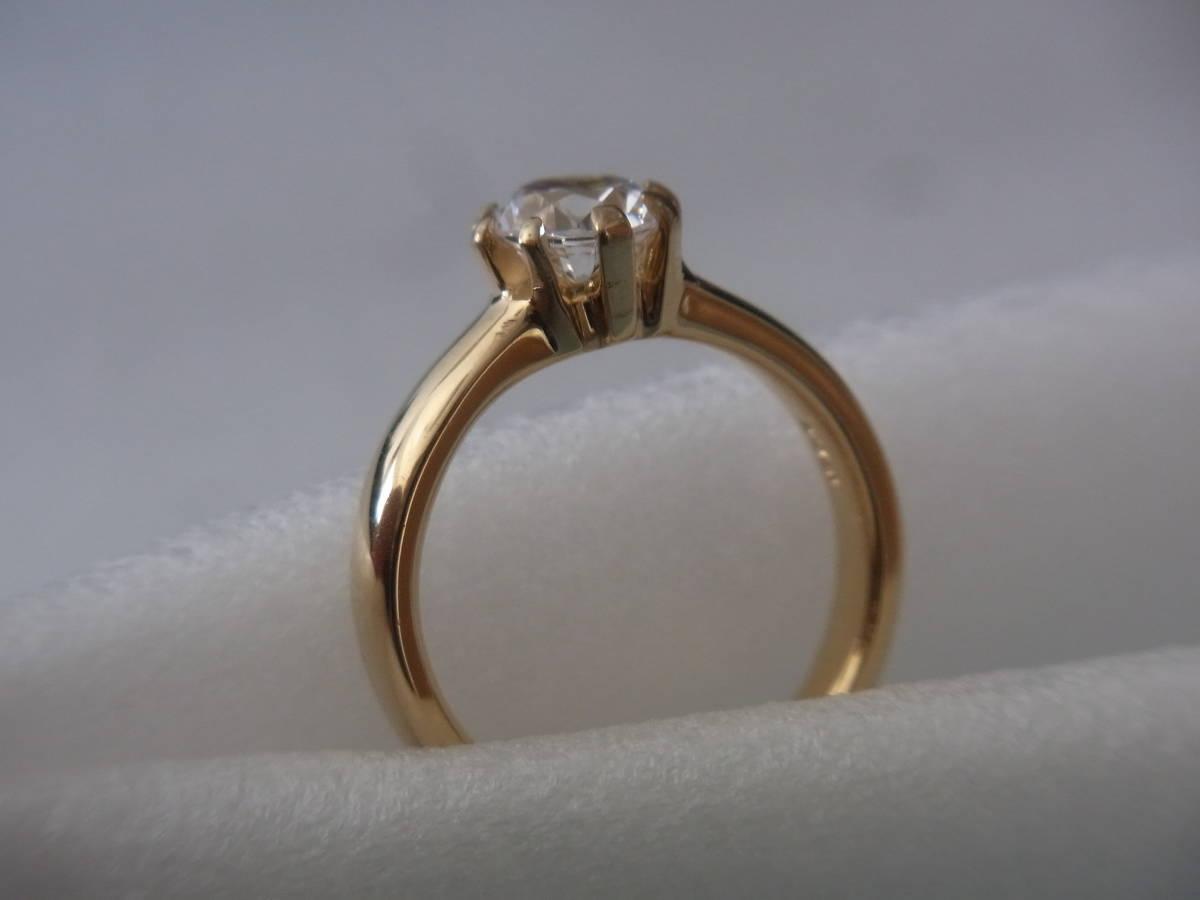 輝きはダイヤモンド級 キュービックジルコニア・リング シルバー・K18GF 指輪 サイズ17+ _画像1