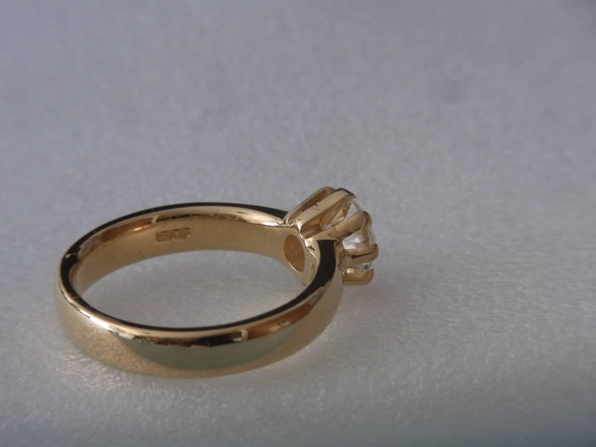 輝きはダイヤモンド級 キュービックジルコニア・リング シルバー・K18GF 指輪 サイズ17+ _画像9