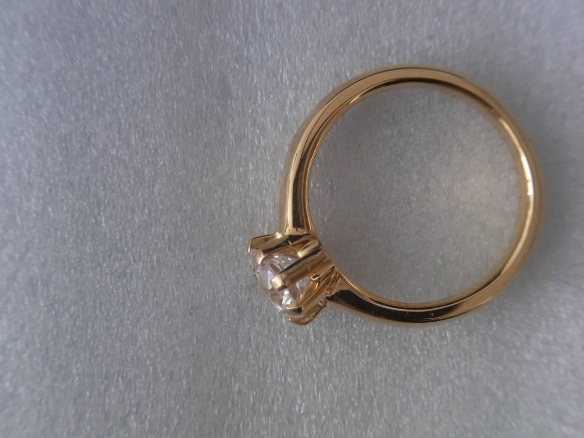 輝きはダイヤモンド級 キュービックジルコニア・リング シルバー・K18GF 指輪 サイズ17+ _画像4
