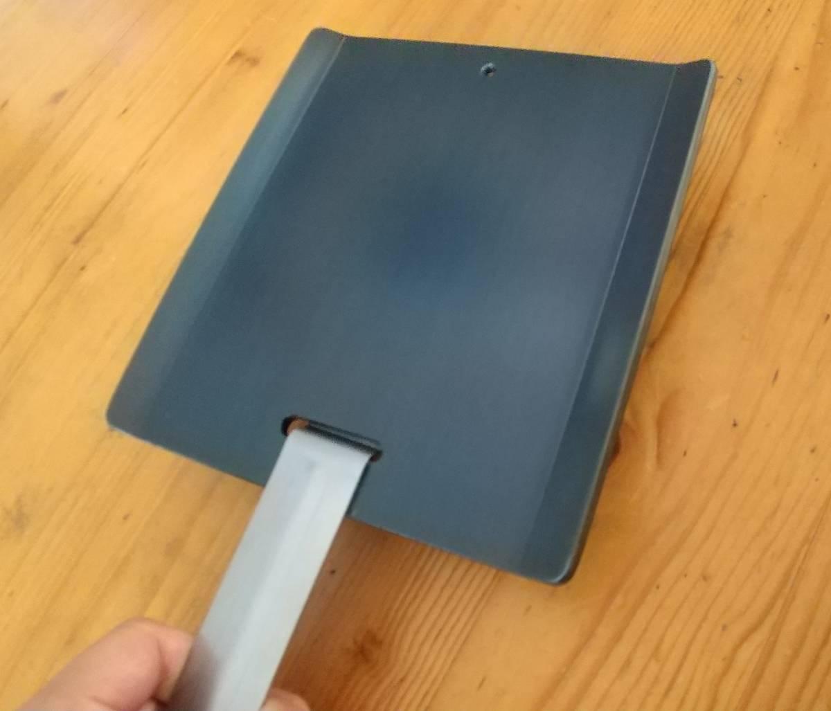 ソロキャンプ用 ミニ鉄板ワイド版 縁有 焼入れ済 即使用可 厚さ4.5mm③