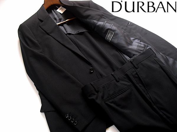【新品 サンプル品】春夏 日本製 ダーバン D'URBAN 高級ウール シングルスーツ 2パンツ 濃紺 大きいサイズ FL ウエスト110~115センチ
