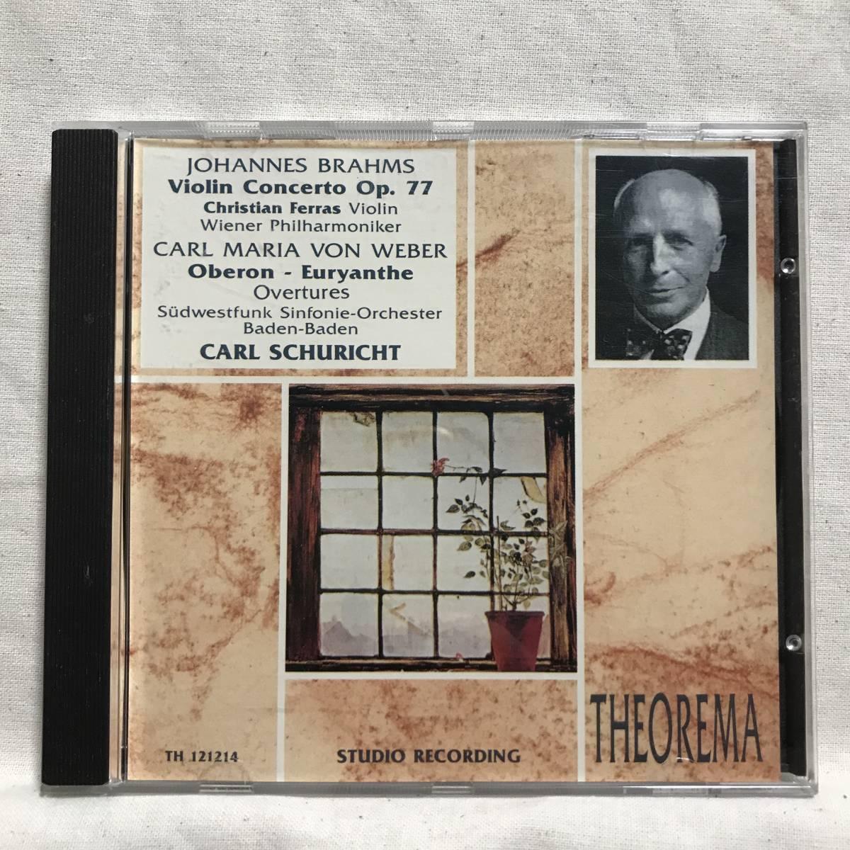フェラス (Vn) / ブラームス:ヴァイオリン協奏曲 / シューリヒト &ウィーン・フィル●CEDAR (DECCA音源) ドイツ盤   _画像1