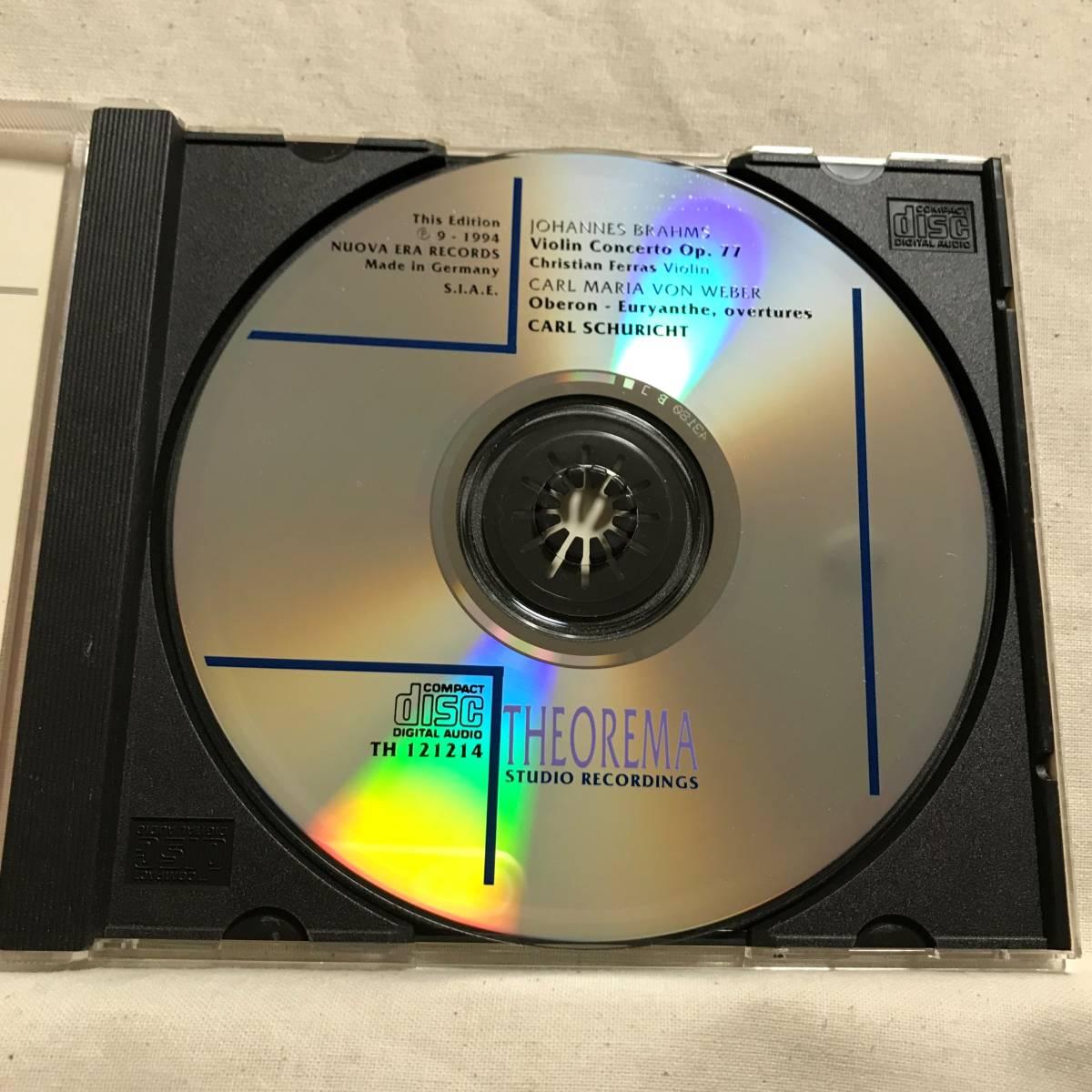 フェラス (Vn) / ブラームス:ヴァイオリン協奏曲 / シューリヒト &ウィーン・フィル●CEDAR (DECCA音源) ドイツ盤   _画像4