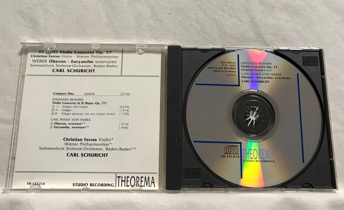 フェラス (Vn) / ブラームス:ヴァイオリン協奏曲 / シューリヒト &ウィーン・フィル●CEDAR (DECCA音源) ドイツ盤   _画像3