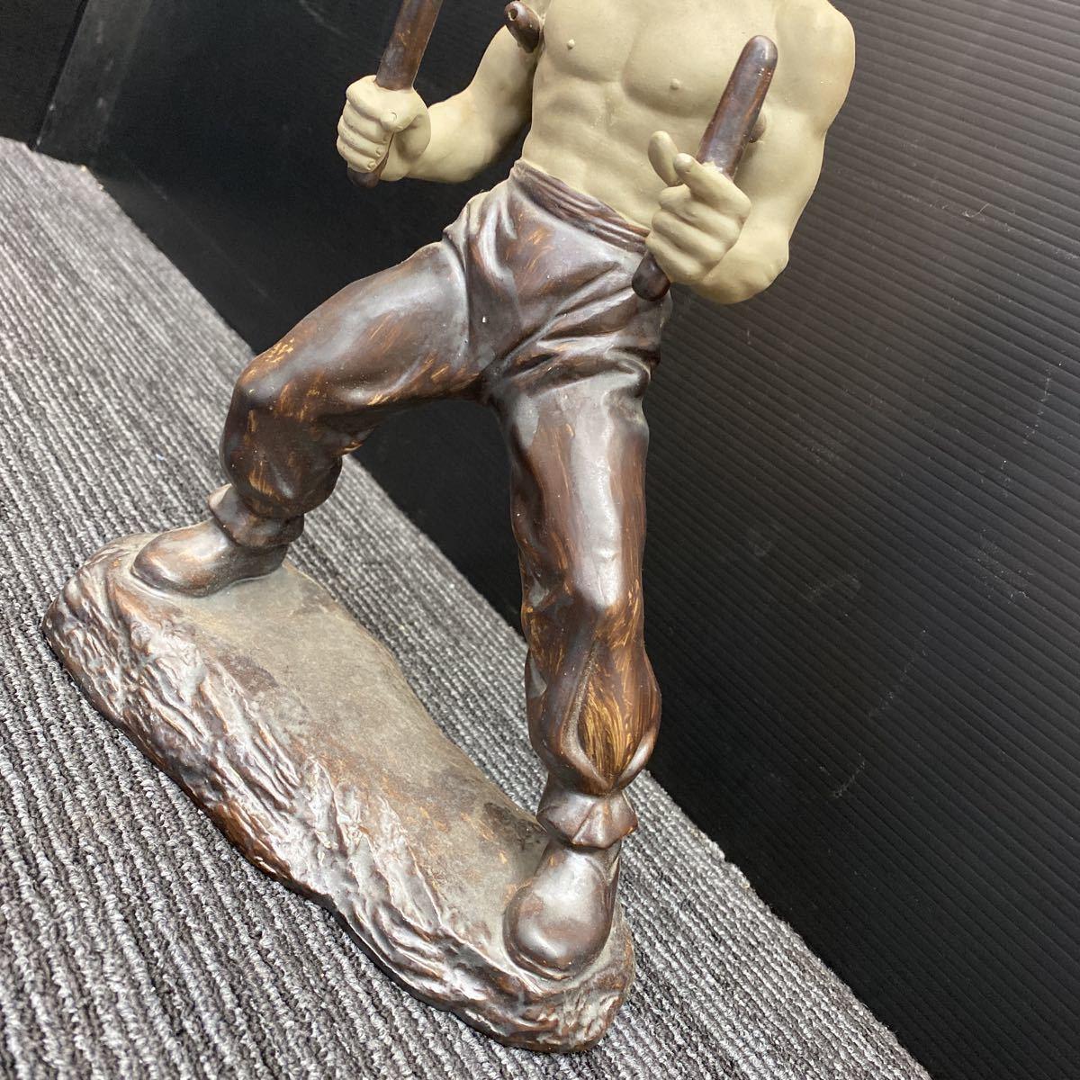 【美品】ブルース・リー 陶器 フィギュア 映画 李小龍 燃えよドラゴン 人形 デッドストック_画像4