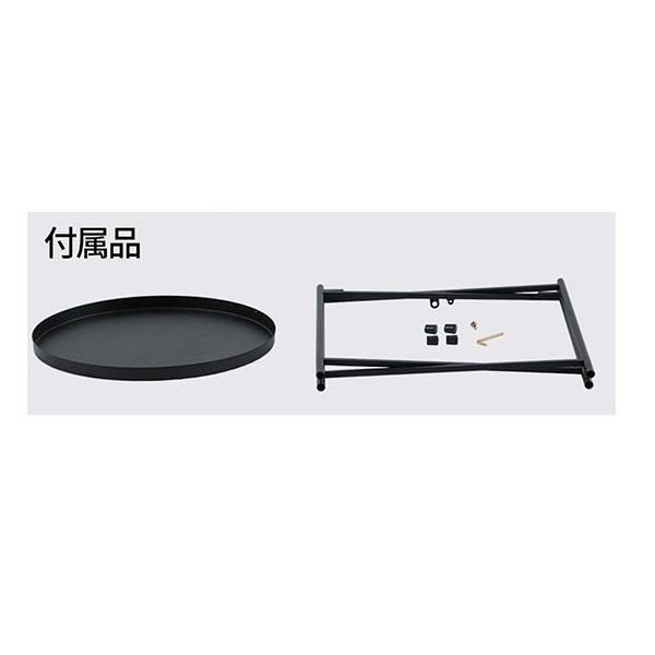 丸形 サイドテーブル ブラック 簡単組み立て コーヒーテーブル お盆 リビング 寝室 トレイテーブル トレーテーブル ナイトテーブル 花台_画像4