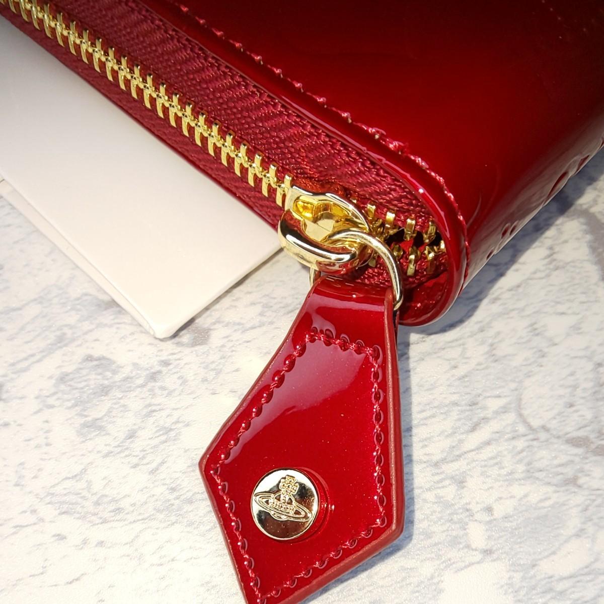 ヴィヴィアン ウエストウッド Vivienne Westwood長財布 レディース エナメルレッド かわいい 新品未使用