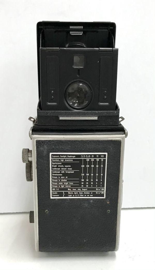 ROLLEIFLEX ローライフレックス COMPUR RAPID FRANKE & HEIDECKE 二眼レフカメラ ケース付 fah 4H568S_画像4