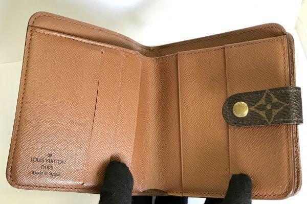LOUIS VUITTON ルイヴィトン モノグラム コンパクトジップ M61667 二つ折り財布 ラウンドファスナー 財布 fah 4S231_画像6
