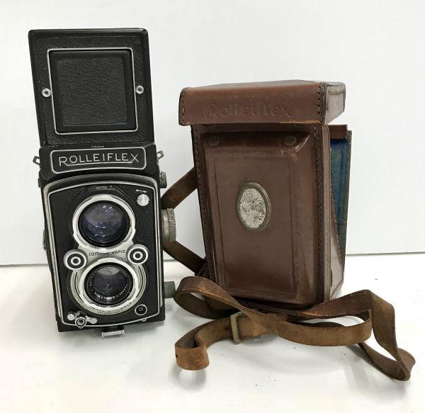 ROLLEIFLEX ローライフレックス COMPUR RAPID FRANKE & HEIDECKE 二眼レフカメラ ケース付 fah 4H568S_画像1
