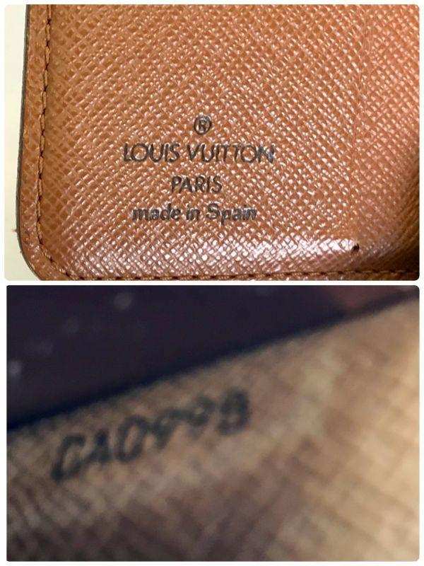 LOUIS VUITTON ルイヴィトン モノグラム コンパクトジップ M61667 二つ折り財布 ラウンドファスナー 財布 fah 4S231_画像10