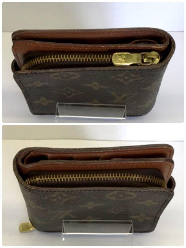 LOUIS VUITTON ルイヴィトン モノグラム コンパクトジップ M61667 二つ折り財布 ラウンドファスナー 財布 fah 4S231_画像5