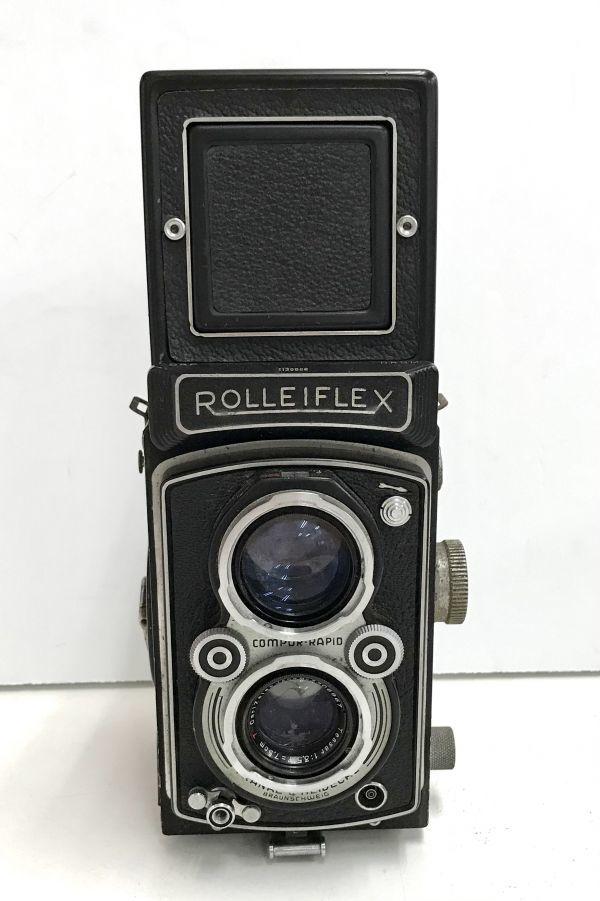 ROLLEIFLEX ローライフレックス COMPUR RAPID FRANKE & HEIDECKE 二眼レフカメラ ケース付 fah 4H568S_画像2
