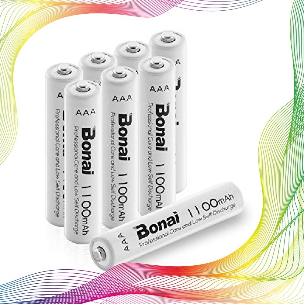 ★即決特価☆8個パック/単4充電池/8本/BONAI/単4形/充電式電池/ニッケル水素電池/8個パックCEマーキング取得/UL認_画像1