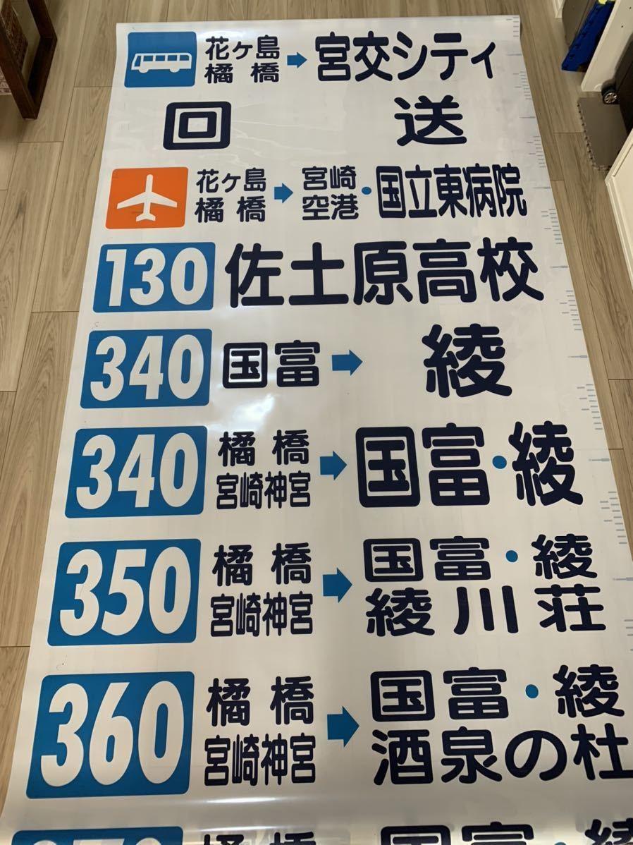 【たっぷり88コマ!】宮崎交通 一般路線バス前面方向幕(前面幕) 宮交シティ シーガイア_画像2
