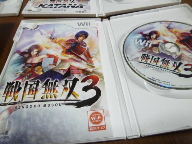 L10【即日配送 送料無料 動作確認済】Wiiソフト 戦国無双3 猛将伝 KATANA 戦国バサラ3 BASARA3