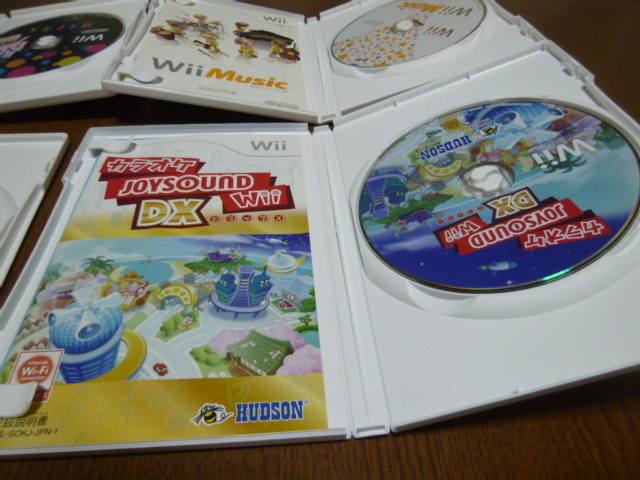 Q3【即日配送 送料無料 動作確認済】Wiiソフト カラオケ ジョイサウンド Wiiミュージック ジャストダンス