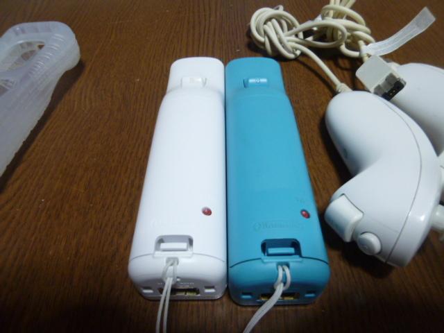 RSJN86【送料無料 動作確認済】Wii リモコン モーションプラス ジャケット ストラップ ヌンチャク 2個セット ブルー ホワイト カバー