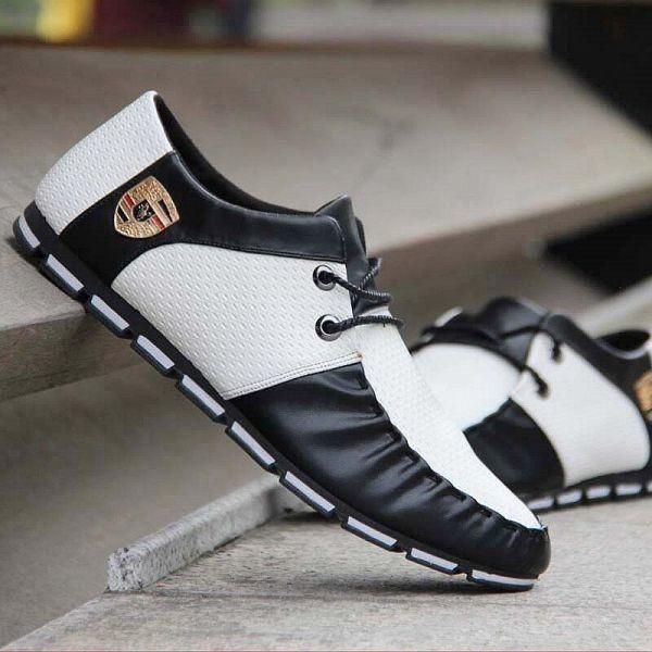 送料無料 新品 スニーカー スリッポン メンズ ローファー カジュアル 軽量 ドライビング レースアップ 紳士靴 24. G2127_画像3